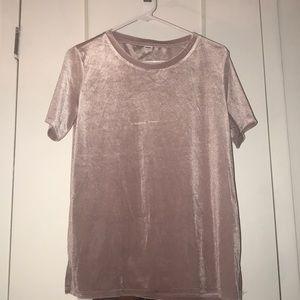 Velvet Short sleeve Rose T-shirt